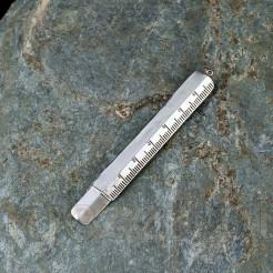 Linijka wykonana ze srebra z możliwością przymocowania ołówka