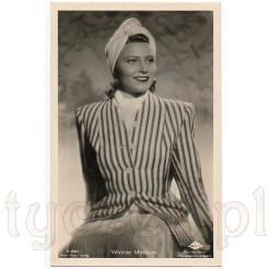 Pewna siebie dama w turbanie to Winnie Markus- niemiecka aktorka filmowa i teatralna
