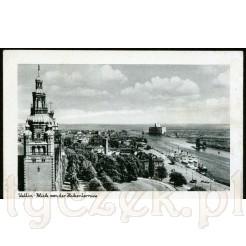 Stettin- stara pocztówka z panoramą