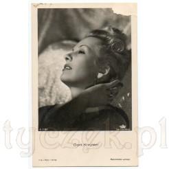 Popularna osobowość sceniczna w Austrii- Dorit Kreysler na kolekcjonerskiej pocztówce