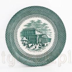 1868rok ceramiczny talerz Teatr Wielki Petersburg