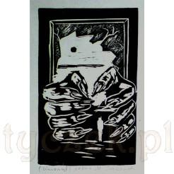 Diabelskie palce otaczają drobny, jasny fragment przypominający postać wisielca.