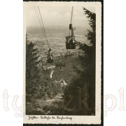 Sudetengau widokówka z kolejką w JESCHKEN