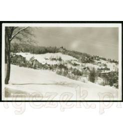 Bierutowice w Karkonoszach uwiecznione zimową porą