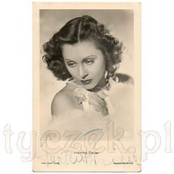 Znana aktorka z Austrii na dawnej pocztówce z autografem
