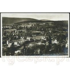 Schreiberhau widokowa pocztówka panoramiczna - zabytek