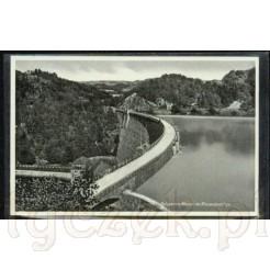 Awers- Karta pocztowa z widokiem Zapory Pilchowickiej