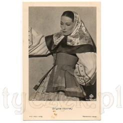 Znana niemiecka aktorka teatralno- filmowa Brigitte Horney na karcie pocztowej