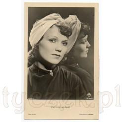 Pamiątkowa pocztówka ze zdjęciem znanej, austriackiej aktorki Geraldine Katt