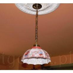 Oryginalna międzywojenna lampa w kwiaty