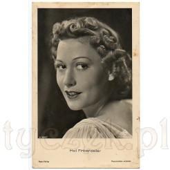 Popularna postać niemieckiej sceny rozrywkowej-- Heli Finkenzeller na dawnej pocztówce