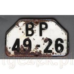 stara tablica rejestracyjna