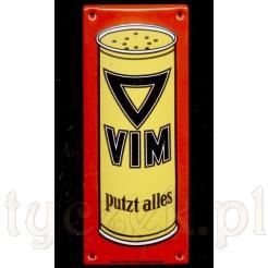 Replika reklamy proszku VIM - szyld emaliowany