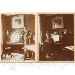 Młody arystokrata uwieczniony na dawnych fotografiach w swoim stylowym gabinecie