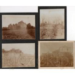 Trzykondygnacyjna wielorodzinna willa z ogródkiem na pamiątkowych zdjęciach