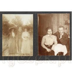 Pamiątkowe fotografie przedstawiające arystokratę podczas spaceru oraz ze swoją lubą