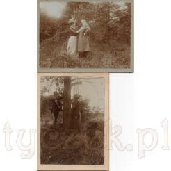 Komplet dwóch zdjęć uwieczniających tą samą, zakochaną w sobie parę