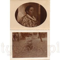 Zdjęcie w kształcie elipsy ukazujące zamyśloną kobietę oraz radosna młoda kobieta na leżaku