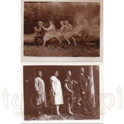 Komplet dwóch rodzinnych fotografii uwiecznionych na łonie natury