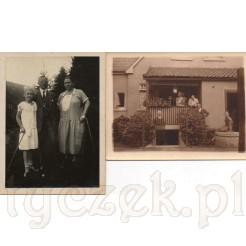 Rodzinne pamiątkowe, czarno białe zdjęcia z 1926 i 1932 r.