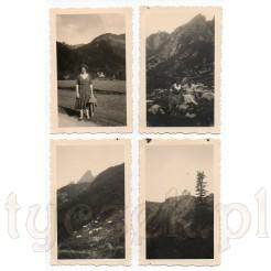Czarno białe ujęcia z malowniczych gór