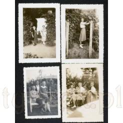 Zestaw czterech czarno białych fotografii zachowanych w bardzo dobrym stanie