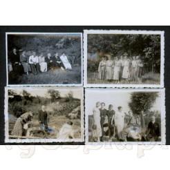 Zestaw czterech pamiątkowych fotografii wykonanych w 1933 roku