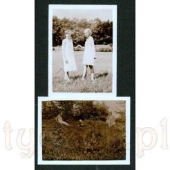 Komplet dwóch zdjęć na łonie natury wykonane w 1930 roku