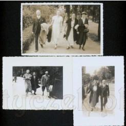 Trzy stare fotografie ukazujące modę z dawnych lat