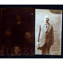 Komplet dwóch zdjęć na tle muru z cegieł