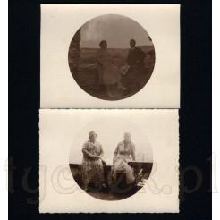 Zdjęcia wykonane ciekawą techniką zostały umieszczone w kole na białym tle