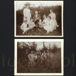 Rodzinne ujęcia na łonie przyrody na czarno białych zdjęciach