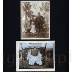 Letni czas, komplet dwóch pamiątkowych zdjęć wykonanych na działce