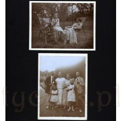 Chwile relaksu na łonie przyrody oraz rodzinne pozowanie uchwycone na dwóch fotografiach
