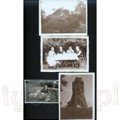 Cztery czarno białe zdjęcia zachowane w bardzo dobrym stanie pochodzące z lat 1932-1933