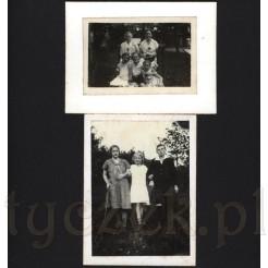 Dzieci uwiecznione na pamiątkowych, rodzinnych fotografiach