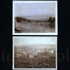 Panorama prezentująca naturalne widoki oraz zurbanizowany krajobraz z miejską zabudową