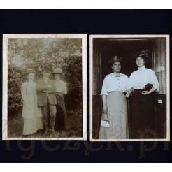 Moda retro na dwóch czarno białych fotografiach