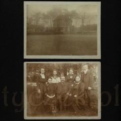 Widok na budynek mieszkalny oraz rodzinna pamiątka w postaci dawnej fotografii