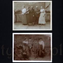 Dwie czarno białe rodzinne fotografie