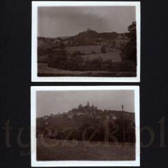 Zamek na wzniesieniu w miejscowości Braunfels uwieczniony na dawnych zdjęciach