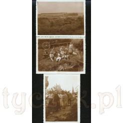 Zestaw trzech czarno białych zdjęć pochodzących z 1931 roku