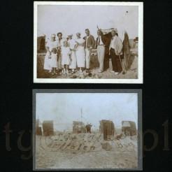 Rodzinne chwile relaksu na piaszczystej plaży z 1924 r.