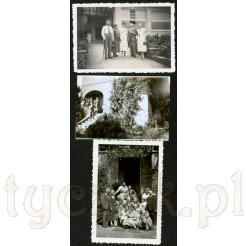 Komplet trzech czarno białych fotografii wykonanych w latach 1936-1937