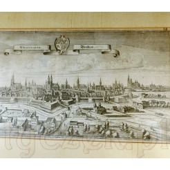 Zabytkowa panorama miasta Wrocław z 1650 roku