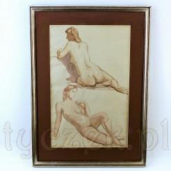 Zmysłowy kobiecy akt autorstwa Wilhelma Wiegera.