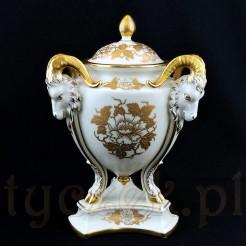 ROSENTHAL Luksusowa waza z pokrywką na stylizowanej podstawie EMPIRE