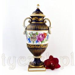 Okazała amfora porcelanowa sygnowana Dresden