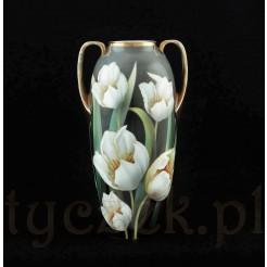 Wspaniały wazon porcelanowy RS w tulipany