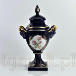 Luksusowa porcelana kobaltowa z motywem róży stulistnej